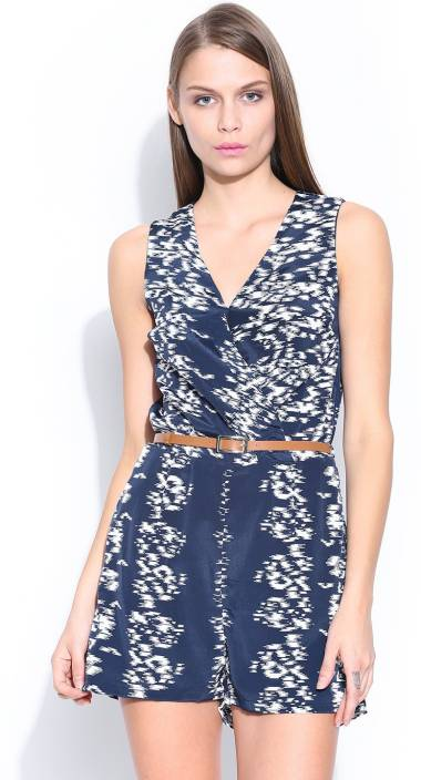 a47b4033afc Mast   Harbour Printed Women s Jumpsuit - Buy Navy Blue Mast   Harbour  Printed Women s Jumpsuit Online at Best Prices in India