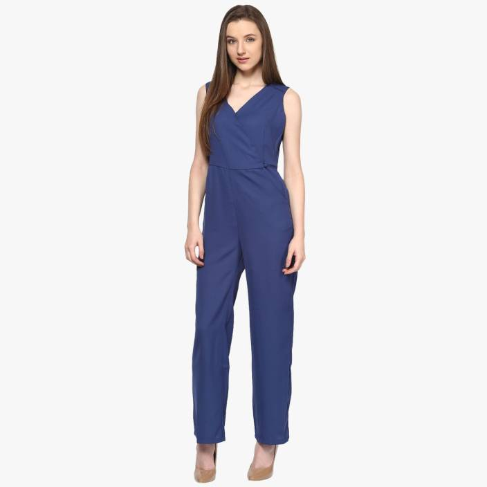 9927807fcf22 Annabelle by Pantaloons Solid Women s Jumpsuit - Buy Dark Blue Annabelle by  Pantaloons Solid Women s Jumpsuit Online at Best Prices in India