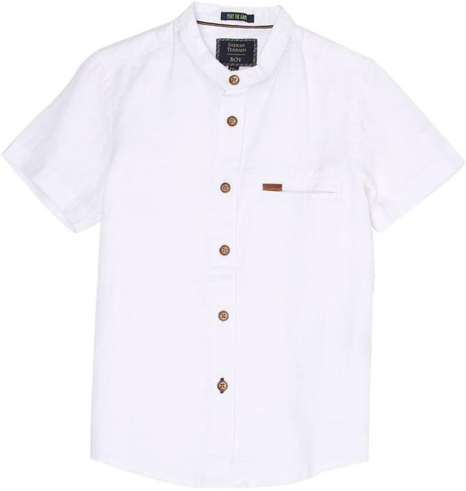 Indian Terrain Boys Solid Casual White Shirt Buy Indian Terrain Boys