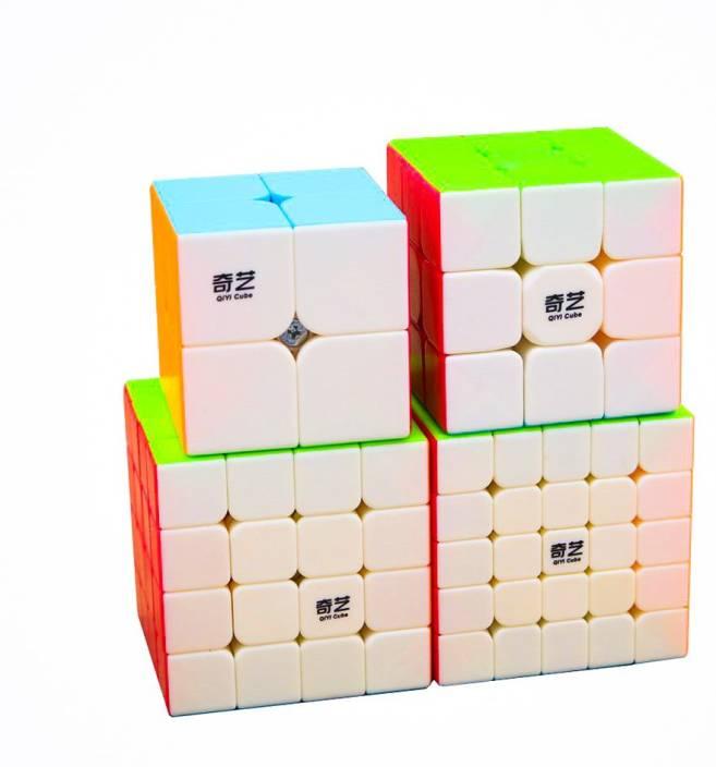 D ETERNAL Rubiks QiYi Combo Cube Set of 2x2 3x3 4x4 5x5 High