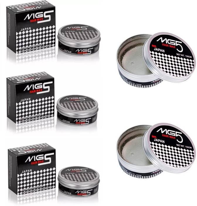 MG5 Japan Hair Wax for Hair Styling - 150 Gram - Pack of 5 Hair Wax