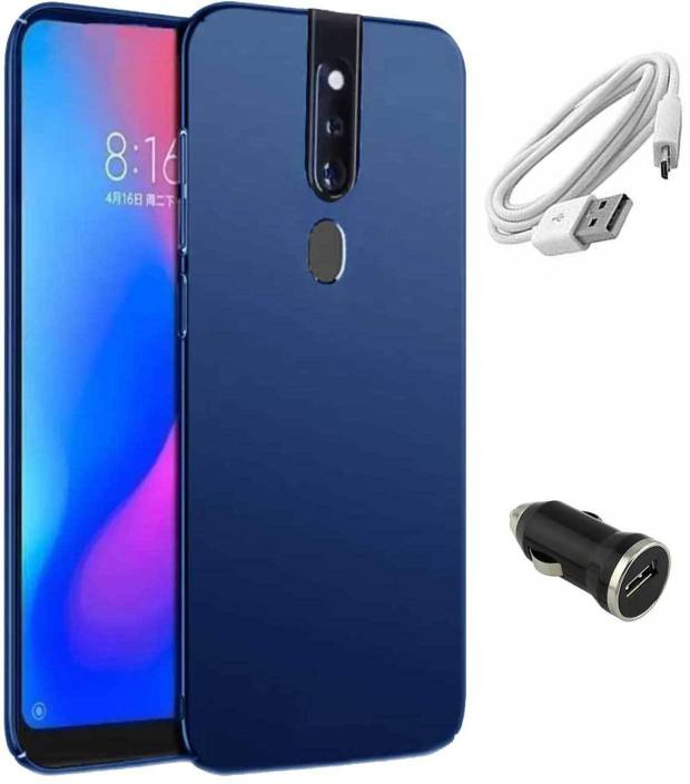 RRTBZ Cover Accessory Combo for Oppo F11 Pro with Car Charger and