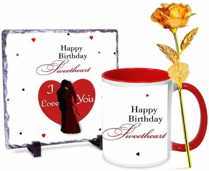 alwaysgift Happy Birthday Darling Wife Stone tile - Mug