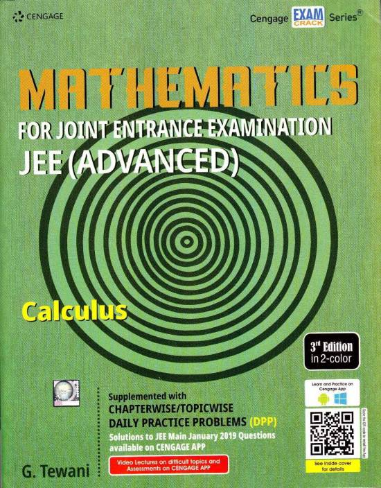 CENGAGE MATHEMATICS-CALCULUS (3-Edition) FOR JEE MAINS & ADVANCED WITH  CHAPTERWISE/TOPICWISE DAILY PRACTICE PAPER (DPP)-WITH SOLUTIONS(2019-20):  Buy