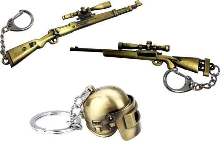 MASHKI PUBG KAR98 & M24 GUN WITH HELMET Key Chain Price in