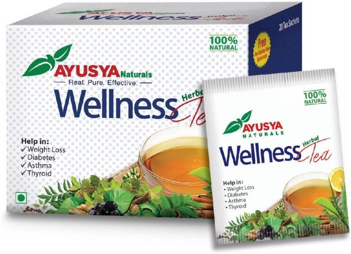 Ayusya Naturals Wellness Tea Tulsi, Aloe Vera, Peppermint, Cardamom