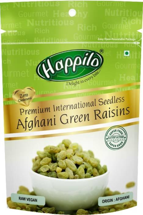 Happilo Premium Premium International Seedless Afghani green Raisins Pouch(200 g)