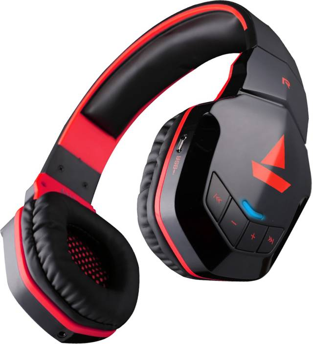 447c97127a7 boAt Rockerz 510 Super Extra Bass Bluetooth Headset with Mic (Red, Black,  Over the Ear)