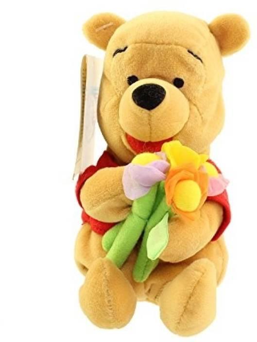 Fantastic Disney Winnie The Pooh Bean Bag Plush Holding Flower Pooh Ncnpc Chair Design For Home Ncnpcorg