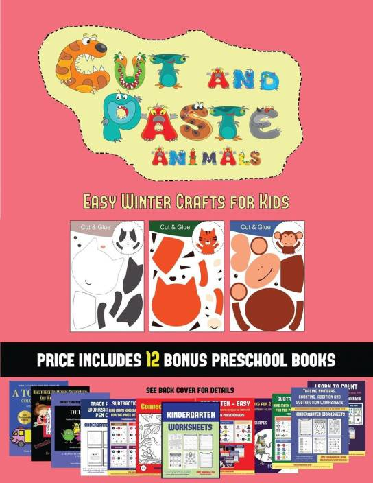 Easy Winter Crafts For Kids Cut And Paste Animals A Great Diy Paper Craft Gift For Kids That Offers Hours Of Fun Buy Easy Winter Crafts For Kids