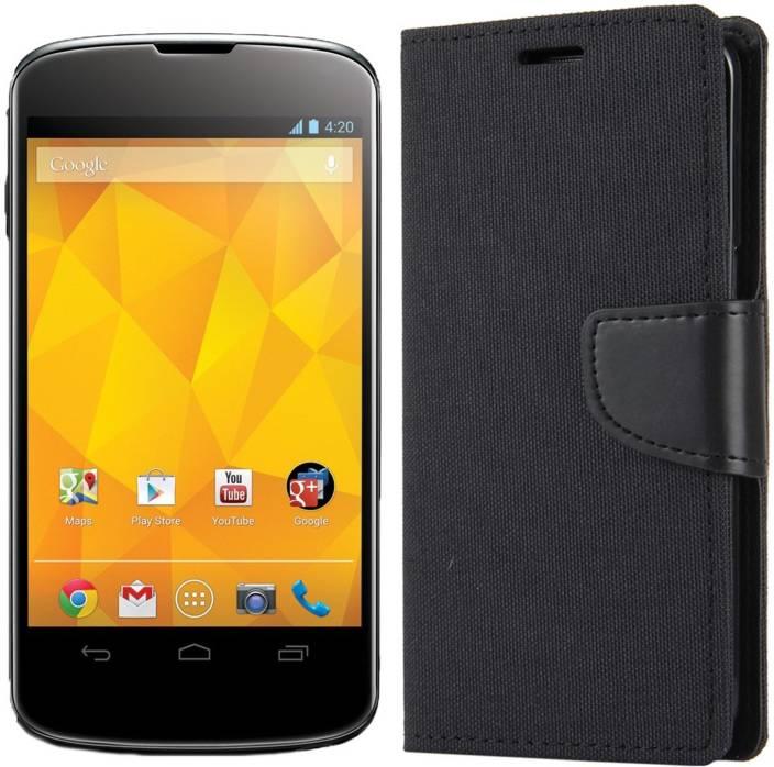 new product 2d047 b2d3c Dgeot Wallet Case Cover for LG Google Nexus 4 - Dgeot : Flipkart.com