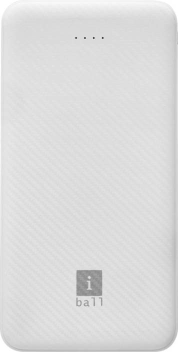 iBall 10000 mAh Power Bank (IB-10000LP)  (White, Lithium Polymer)