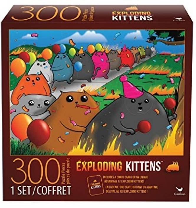 Cardinal Games Exploding Kittens 300 Piece Jigsaw Puzzle