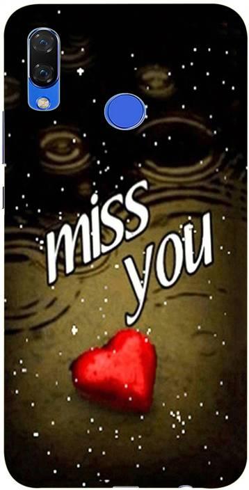 METOO Back Cover for Huawei Honor Nova 3, Miss You ,Miss