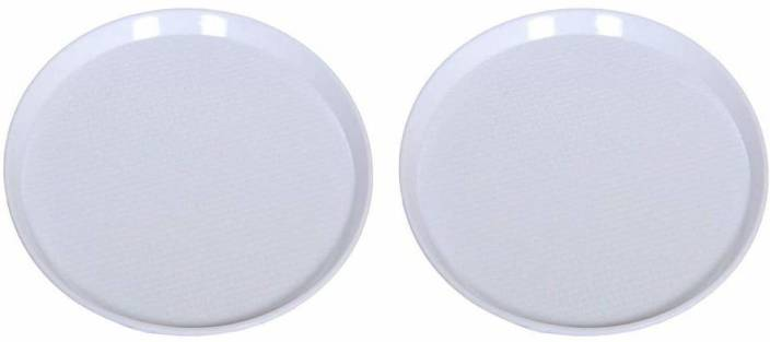 swift international Round Plastic Serving Tray white pack of 2 Tray
