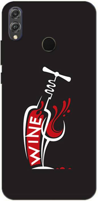 METOO Back Cover for Honor 8X, Red Wine Design Printed Back