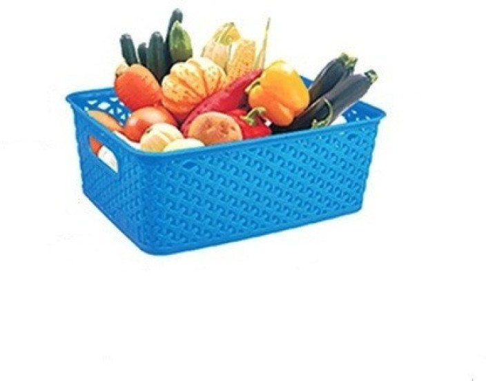 4-Pack Bblie Small Plastic Storage Basket