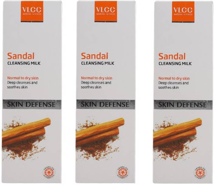 VLCC 3 Sandal Cleansing Milk  (300 ml)