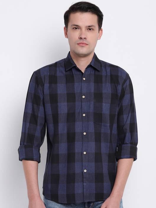 Men Checkered Casual Slim Shirt