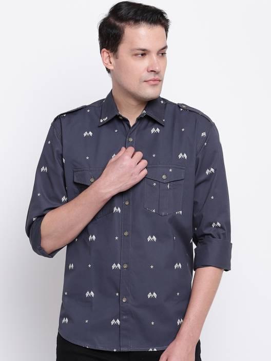 Men Printed Casual Slim Shirt
