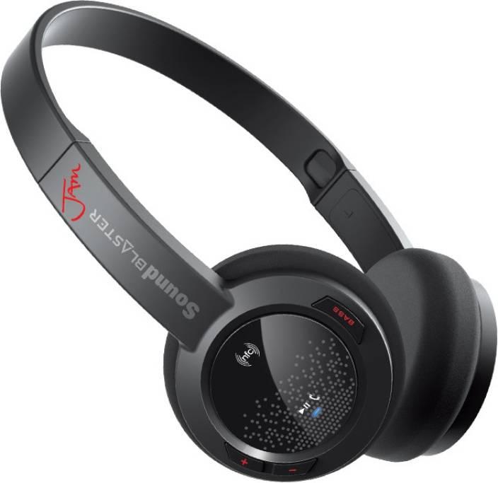 Creative Sound Blaster Jam Bluetooth Headset(Black, On the Ear)