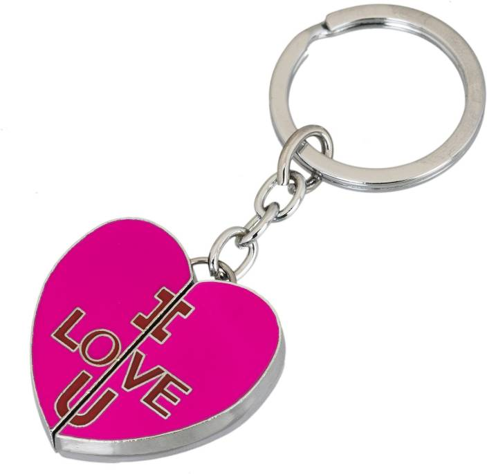 Gadge Gadge Heart Shape I Love You Inside Pink Color Key Chain Price