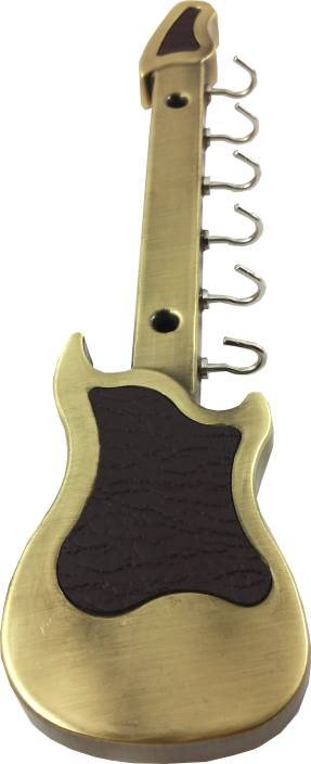 DOCOSS Antique Guitar 6 pin hanger hooks Stainless Steel Key Holder