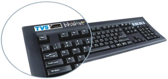 bd3b2045b9a TVS-e Gold Bharat Wired USB Laptop Keyboard - TVS-e : Flipkart.com