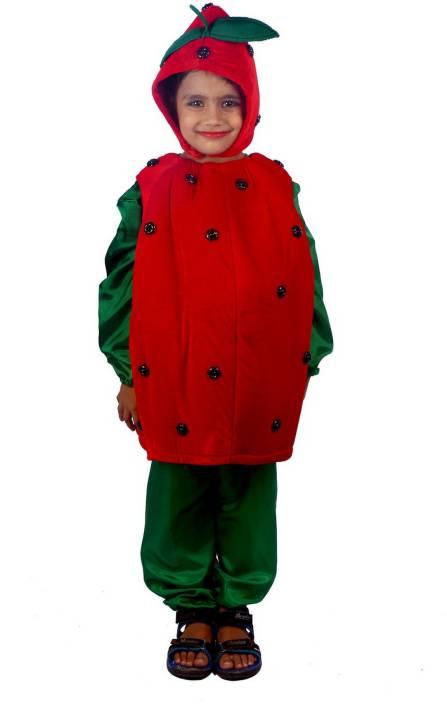 58dd6ad44542 SBD Strawberry Fruit Fancy Dress Costume Kids Costume Wear Price in ...