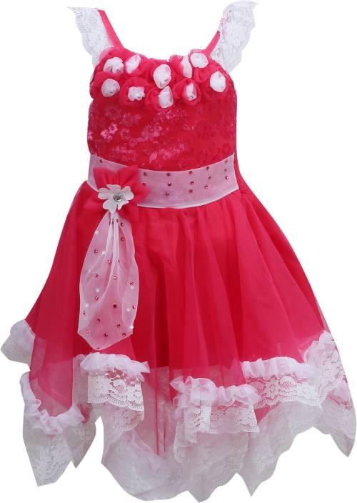4e27d3d56008 Wishkaro Girls Midi/Knee Length Party Dress Price in India - Buy ...