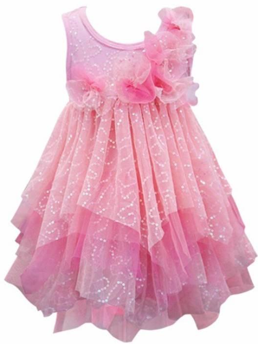 8b0989d11601 Baby Sara Girls Midi Knee Length Casual Dress Price in India - Buy ...