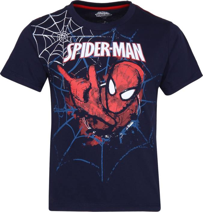 0a25554a Spiderman Boys Printed Cotton T Shirt Price in India - Buy Spiderman ...