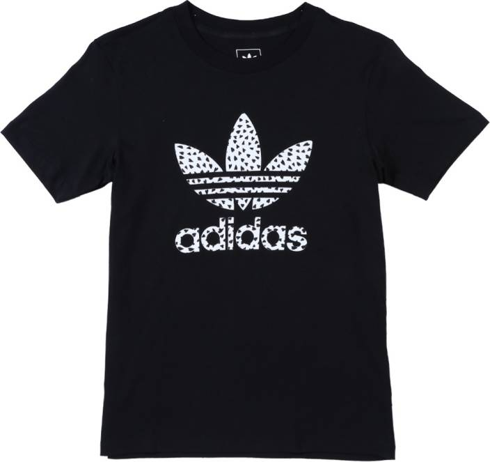 743e05e57 ADIDAS Girls Printed Cotton T Shirt Price in India - Buy ADIDAS ...