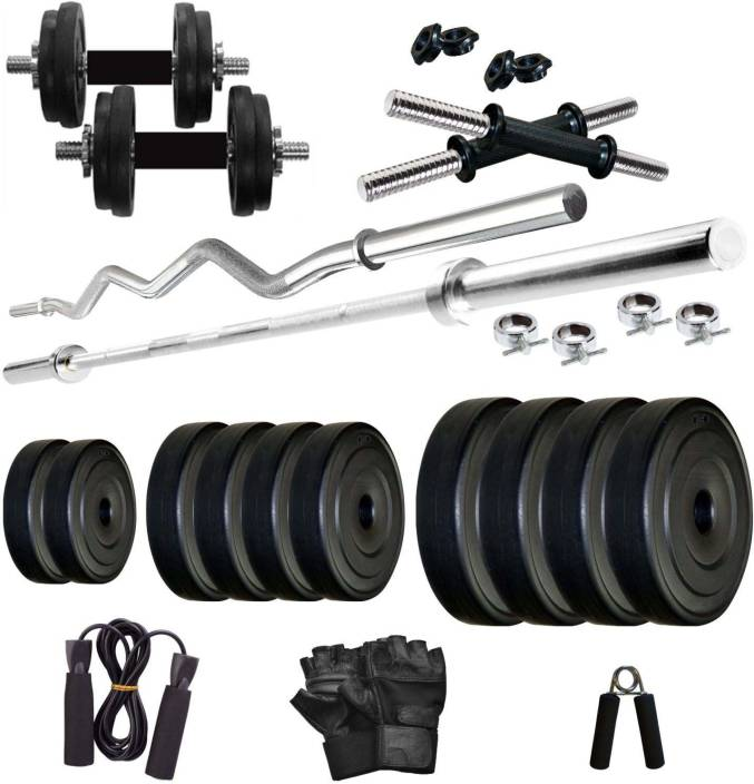 Krx pvc 30 kg combo 2 wb home gym kit buy krx pvc 30 kg combo 2 wb