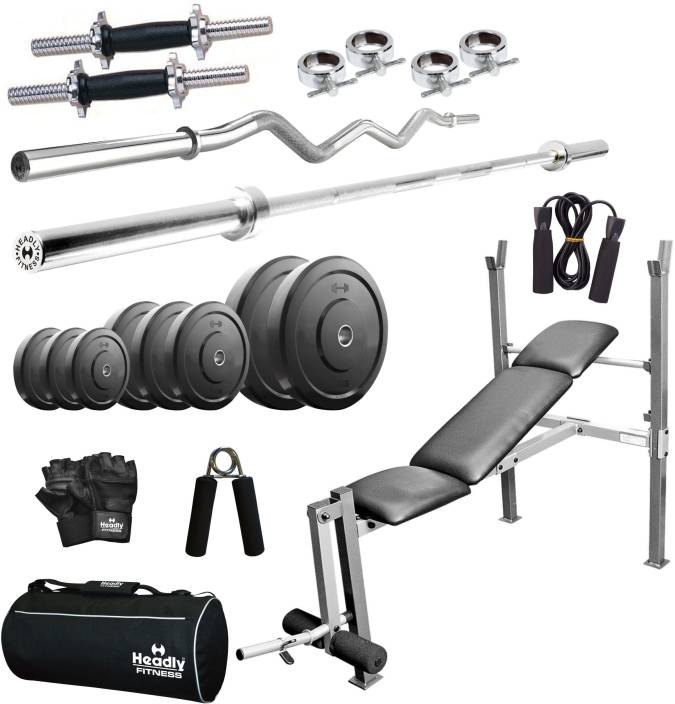 Headly home 80 kg combo aa8 home gym kit buy headly home 80 kg