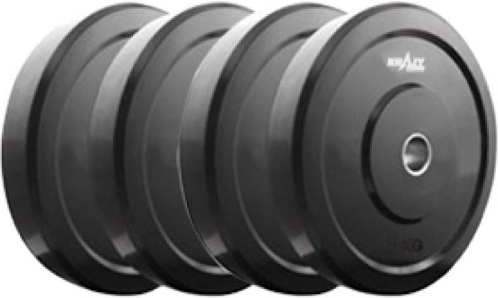 ab7a9c5a89b Krazy Fitness 4 kg (1 kg each) Rubber Black Weight Plate - Buy Krazy ...