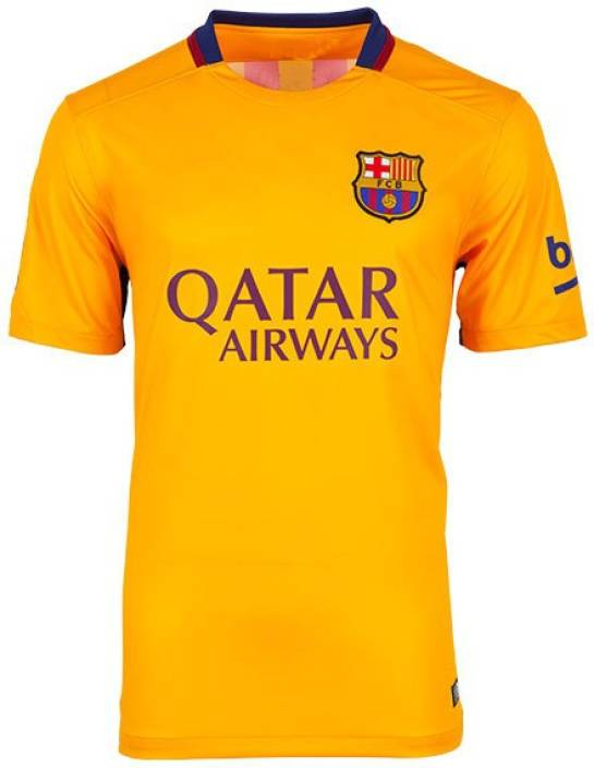 new product 0c5d1 491c9 Navex Football Jersey Club Barcelona Yellow Short Sleeve Ket L Football Kit