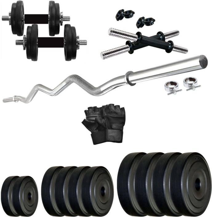 Krx pvc 20 kg combo 4 wb home gym kit buy krx pvc 20 kg combo 4 wb