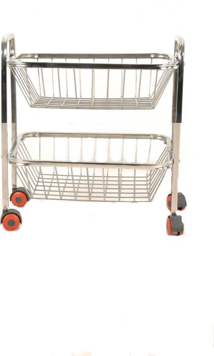 Anmol Square Stainless Steel Kitchen Trolley Price In