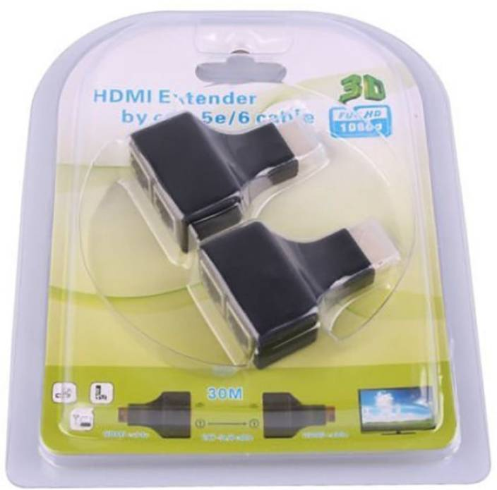 Iconnect-World HDMI extender over CAT5e/6 cable upto 30 meter to RJ45 Lan  Adapter