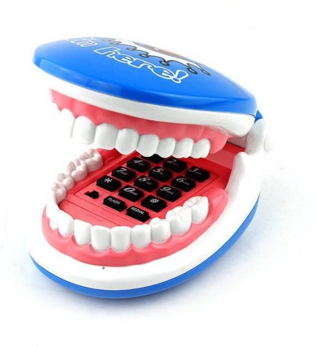 GeekGoodies Teeth Jaw Smile Corded Landline Phone