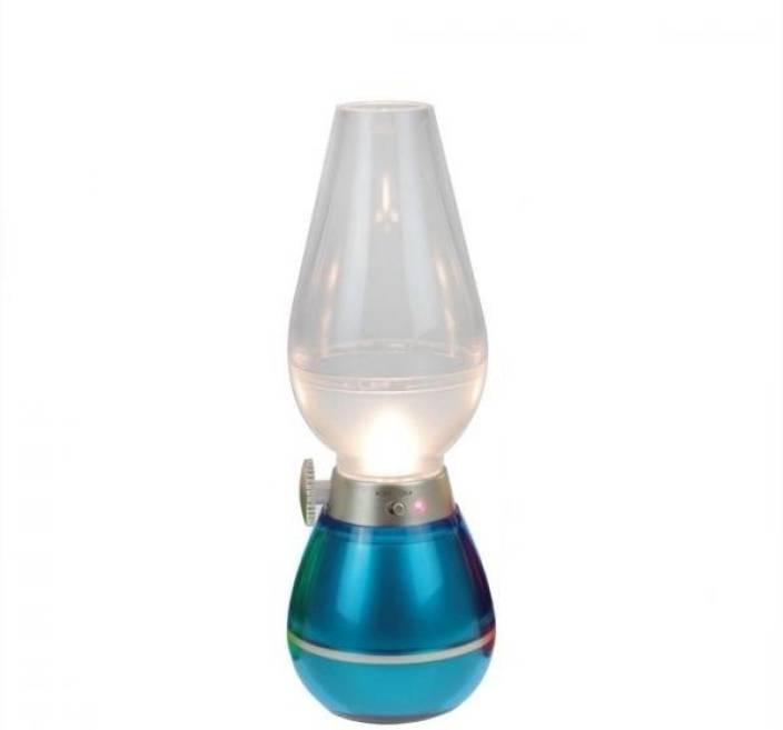 Orion Retro LED Blow Lamp Blue Plastic Lantern