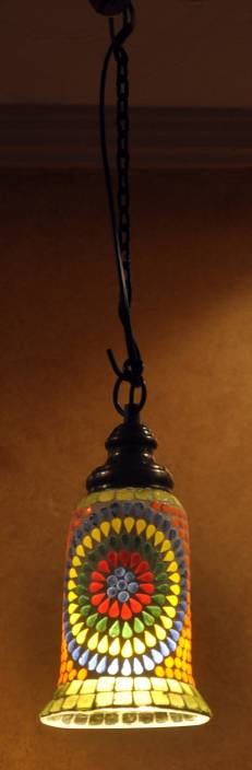 Lal Haveli Home Decoration Pendant Ceiling Light Night Lamp Green Glass Lantern