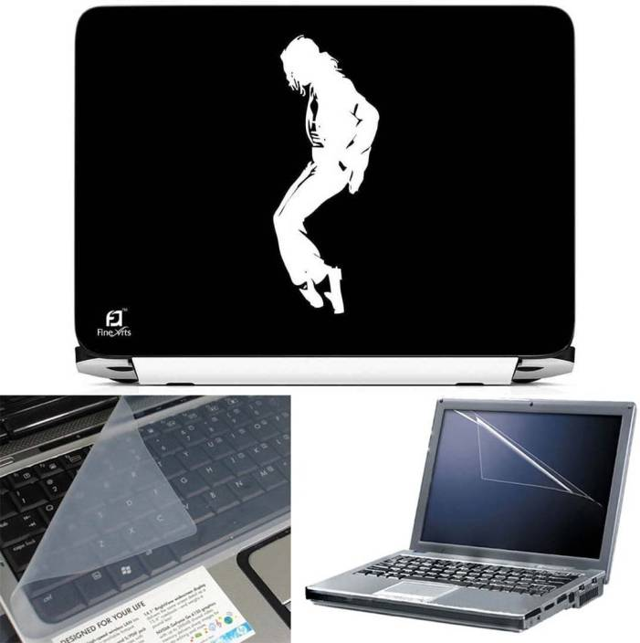 FineArts Michael Jackson 3 in 1 Laptop Skin Pack With Screen Guard & Key Protector Combo Set