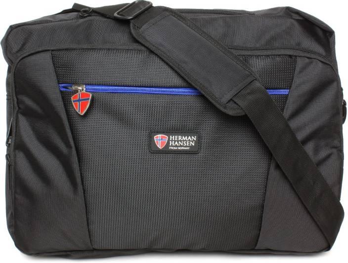 Herman Hansen 15.6 inch Laptop Messenger Bag Black - Price in India ... 61e0b06f6045