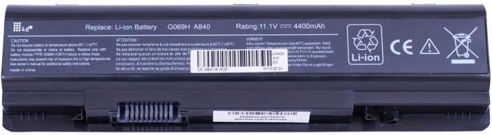 4D Vostro PP37L 6 Cell Laptop Battery