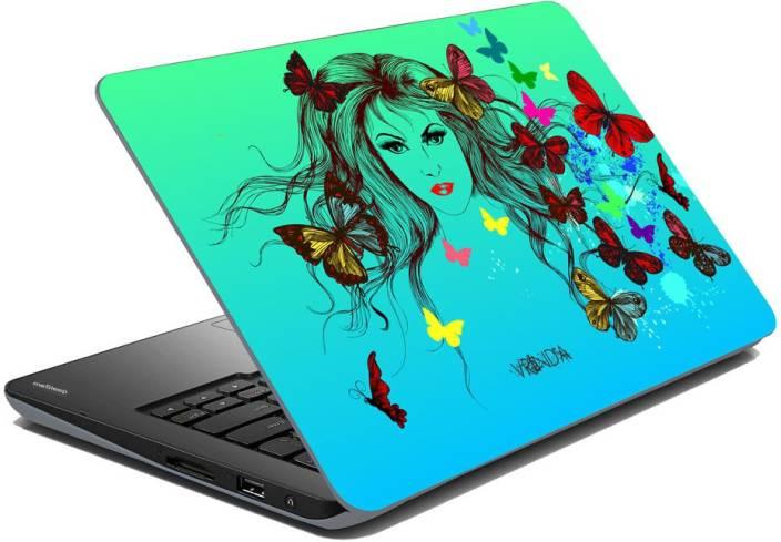 meSleep Butterfly Girl for Vrinda Vinyl Laptop Decal 15.6