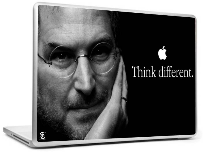2afd1e637fc Print Shapes Think different steve jobs Vinyl Laptop Decal 15.6 Price in  India - Buy Print Shapes Think different steve jobs Vinyl Laptop Decal 15.6  online ...