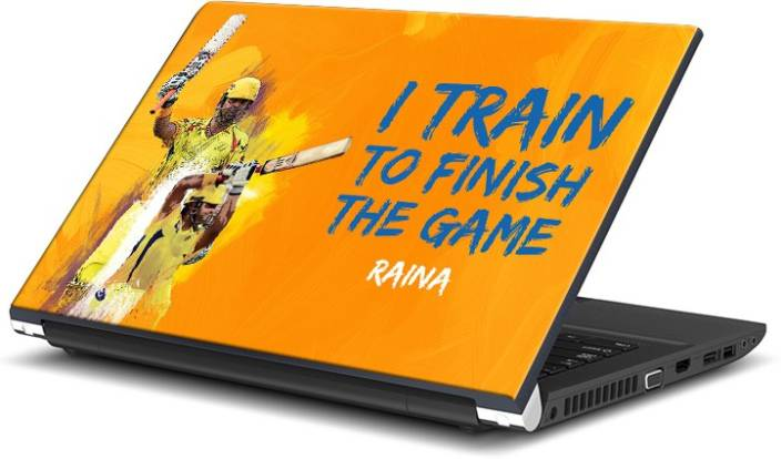 ShopMantra Raina I train To Finish The Game Vinyl Laptop Decal 15.6