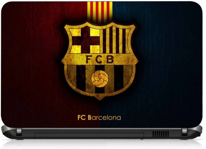 Vi Collections Fcb Logo In Gold Pvc Laptop Decal 156